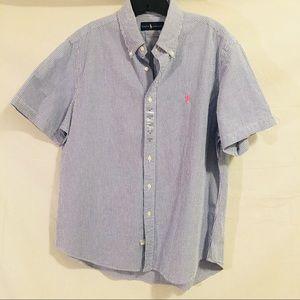 🍀 Ralph Lauren Button Down Shirt Sleeve Shirt 🍀